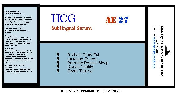 hcg sublingual bottle label