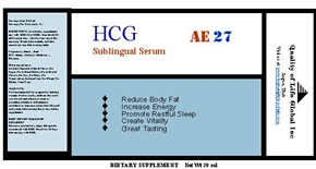 hCG product, oral sublingual serum bottle label description of your hCG diet medicine product you could order online right now!