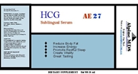 hCG muscle building product label