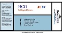 etiqueta del producto fórmula hCG tratamiento de la obesidad