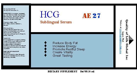 hcg sublingual bottle label