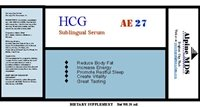 hCG oral sublingual serum bottle label description